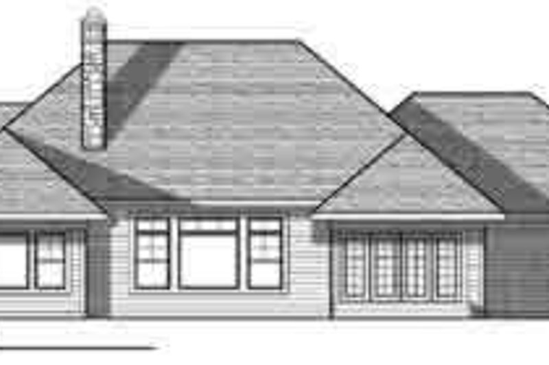 Traditional Exterior - Rear Elevation Plan #70-844 - Houseplans.com