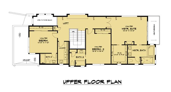 Modern Floor Plan - Upper Floor Plan Plan #1066-106