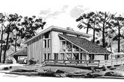 Modern Style House Plan - 3 Beds 2 Baths 1546 Sq/Ft Plan #12-113 Exterior - Front Elevation