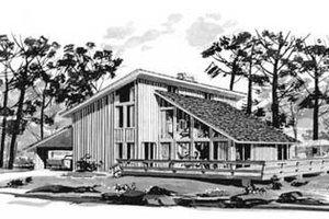 Modern Exterior - Front Elevation Plan #12-113