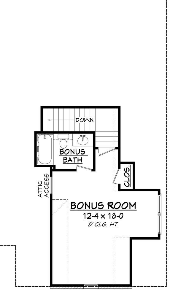 European Floor Plan - Upper Floor Plan Plan #430-137