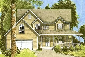 Country Exterior - Front Elevation Plan #409-1112
