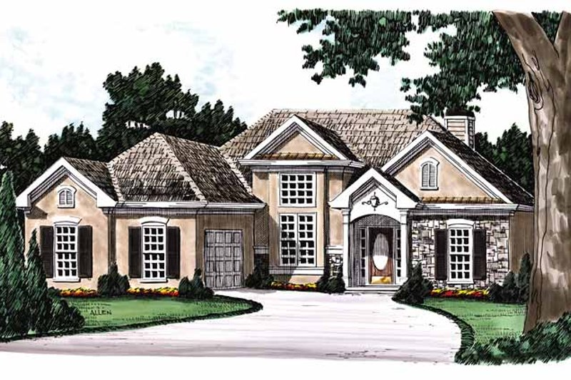 Country Exterior - Front Elevation Plan #927-53