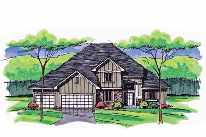 House Plan Design - Colonial Exterior - Front Elevation Plan #51-1035