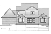 Country Style House Plan - 4 Beds 2.5 Baths 2879 Sq/Ft Plan #46-777 Exterior - Rear Elevation