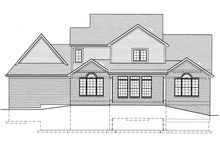 House Plan Design - Country Exterior - Rear Elevation Plan #46-777