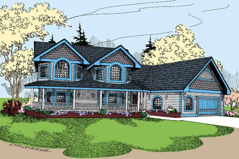 Country Exterior - Front Elevation Plan #60-717
