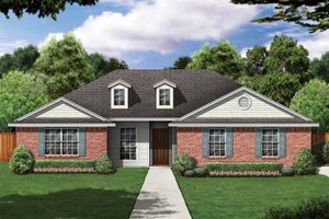 House Plan Design - Country Exterior - Front Elevation Plan #84-643