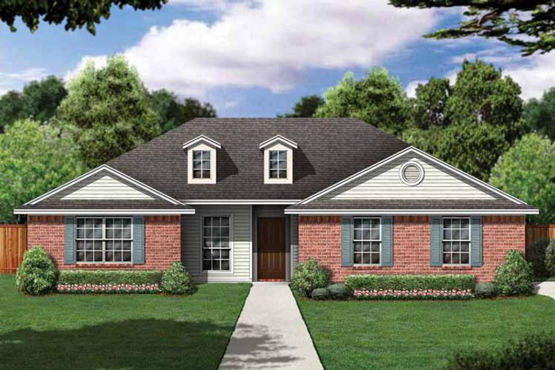 Country Exterior - Front Elevation Plan #84-643