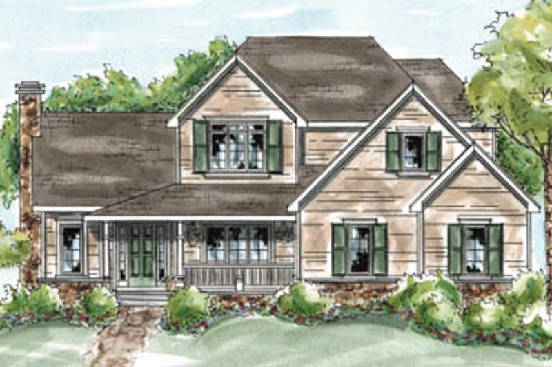 Traditional Exterior - Front Elevation Plan #20-1288 - Houseplans.com