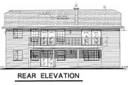 Ranch Style House Plan - 3 Beds 2 Baths 1097 Sq/Ft Plan #18-168 Exterior - Rear Elevation
