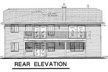 Ranch Exterior - Rear Elevation Plan #18-168