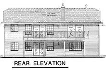House Blueprint - Ranch Exterior - Rear Elevation Plan #18-168