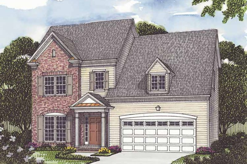 Dream House Plan - Traditional Exterior - Front Elevation Plan #453-503