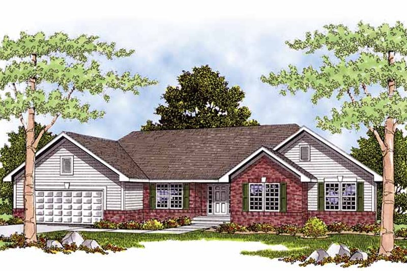 Dream House Plan - Ranch Exterior - Front Elevation Plan #70-1301