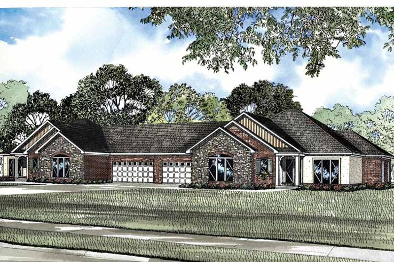 Ranch Exterior - Front Elevation Plan #17-2937 - Houseplans.com