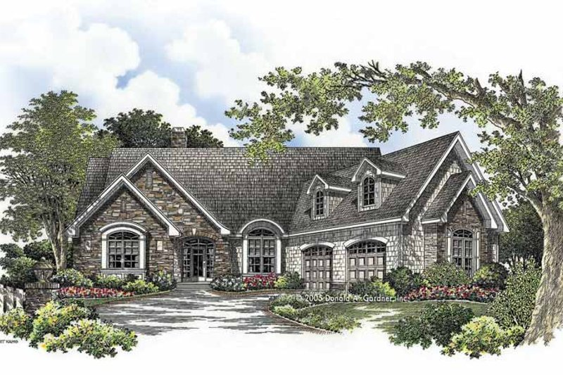 Craftsman Exterior - Front Elevation Plan #929-761