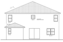 Mediterranean Exterior - Rear Elevation Plan #1058-66