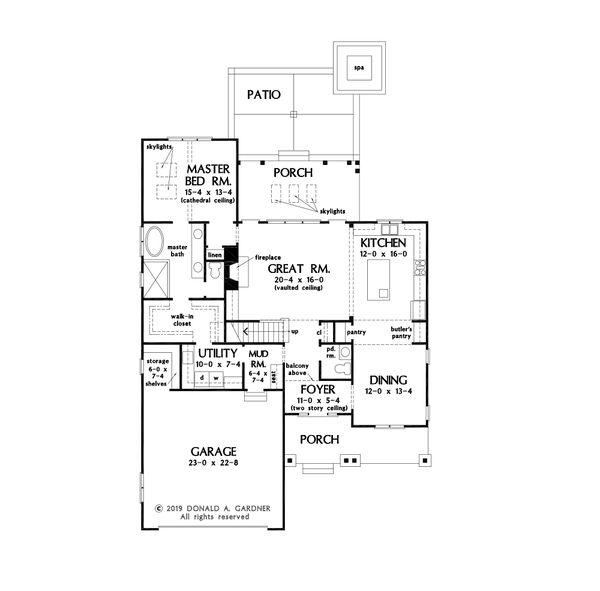 House Design - Farmhouse Floor Plan - Main Floor Plan #929-1115