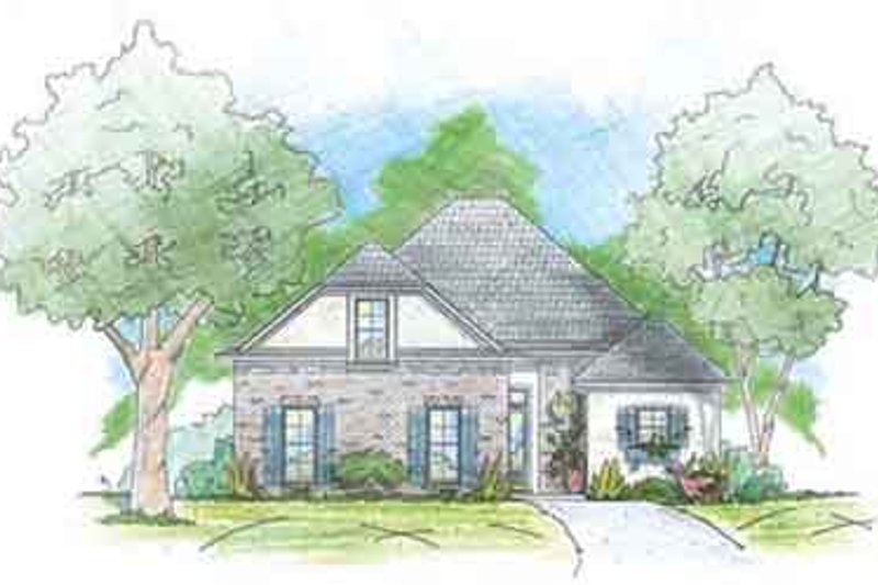 Southern Exterior - Front Elevation Plan #36-433