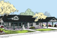Country Exterior - Front Elevation Plan #60-1011