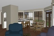 Craftsman Style House Plan - 3 Beds 2 Baths 1678 Sq/Ft Plan #126-182 Interior - Kitchen