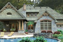 Architectural House Design - Craftsman Exterior - Rear Elevation Plan #120-179