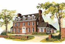 Classical Exterior - Front Elevation Plan #72-684