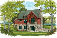 House Plan Design - European Exterior - Rear Elevation Plan #453-635