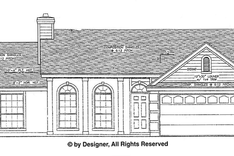 Ranch Exterior - Front Elevation Plan #472-125 - Houseplans.com