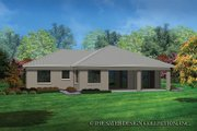 Contemporary Style House Plan - 3 Beds 2 Baths 1808 Sq/Ft Plan #930-451 Exterior - Rear Elevation