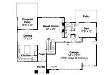 Prairie Floor Plan - Main Floor Plan Plan #124-969