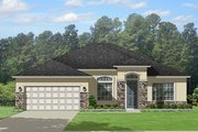 Mediterranean Style House Plan - 3 Beds 2 Baths 1934 Sq/Ft Plan #1058-116 Exterior - Front Elevation