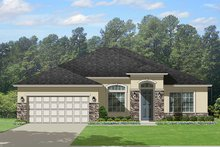 Mediterranean Exterior - Front Elevation Plan #1058-116