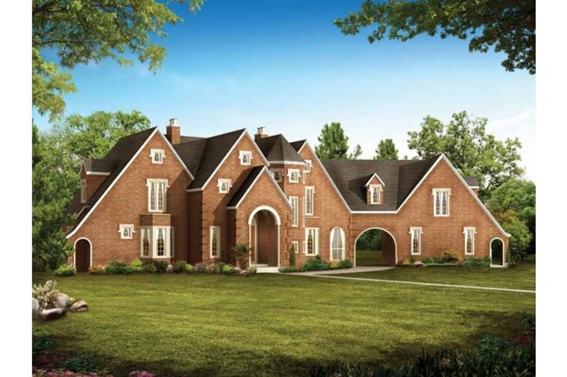 European Exterior - Front Elevation Plan #72-147 - Houseplans.com