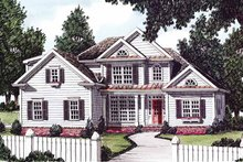 House Design - Colonial Exterior - Front Elevation Plan #927-606