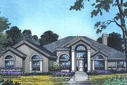 European Style House Plan - 4 Beds 3 Baths 2953 Sq/Ft Plan #417-350