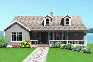 Country Exterior - Front Elevation Plan #75-116
