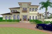 Mediterranean Style House Plan - 4 Beds 4.5 Baths 6838 Sq/Ft Plan #548-22 Exterior - Front Elevation