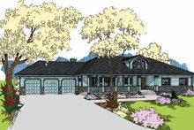 House Plan Design - Ranch Exterior - Front Elevation Plan #60-1038