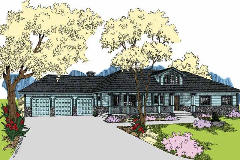 Ranch Exterior - Front Elevation Plan #60-1038 - Houseplans.com