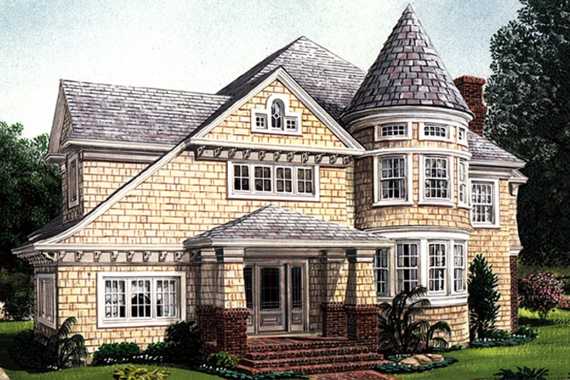 Craftsman Exterior - Front Elevation Plan #410-3581 - Houseplans.com