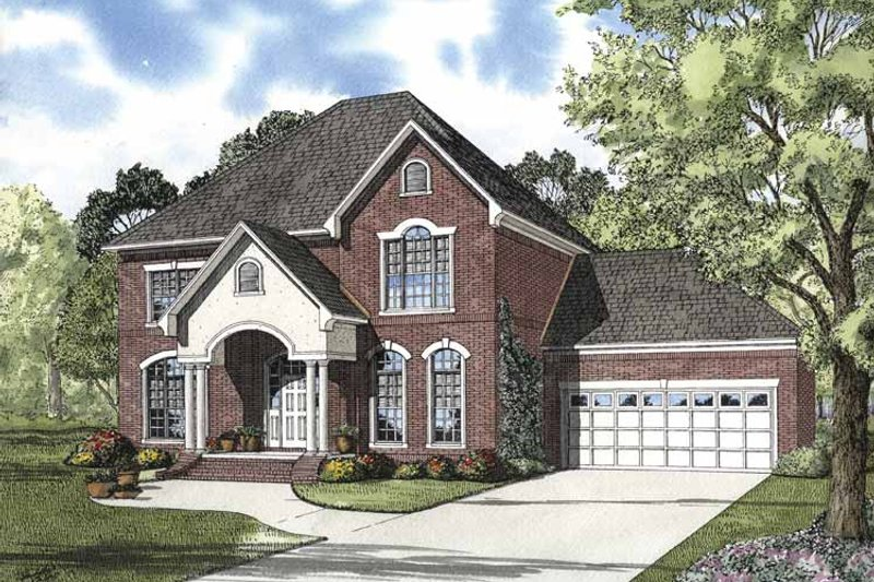 Home Plan - Traditional Exterior - Front Elevation Plan #17-2848