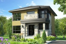 Modern Exterior - Front Elevation Plan #23-2705