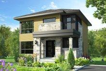 House Plan Design - Modern Exterior - Front Elevation Plan #23-2705