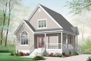 Country Style House Plan - 2 Beds 2 Baths 1561 Sq/Ft Plan #23-2403 Exterior - Front Elevation