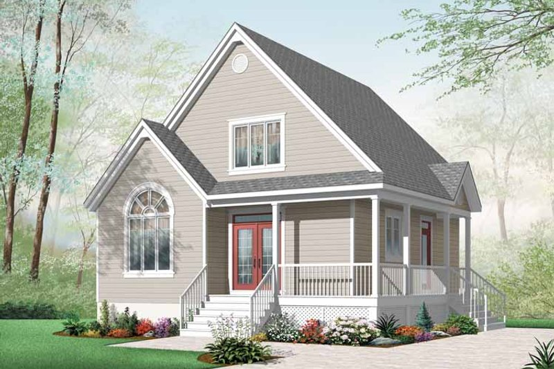 Country Exterior - Front Elevation Plan #23-2403 - Houseplans.com