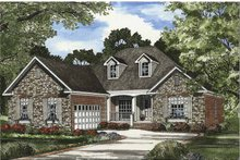 Architectural House Design - Traditional Exterior - Front Elevation Plan #17-3294