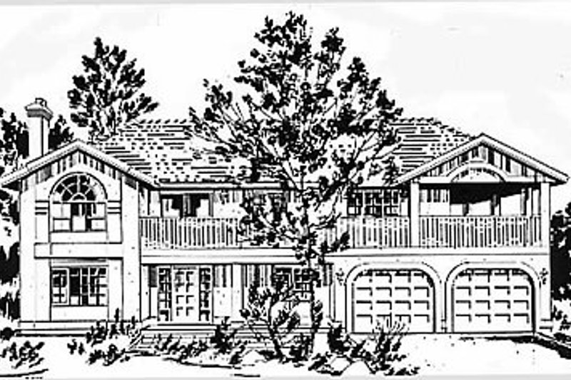 House Blueprint - European Exterior - Front Elevation Plan #18-139