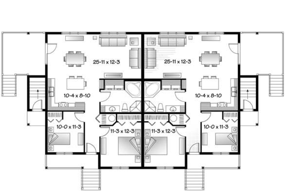 Country Floor Plan - Main Floor Plan Plan #23-2594